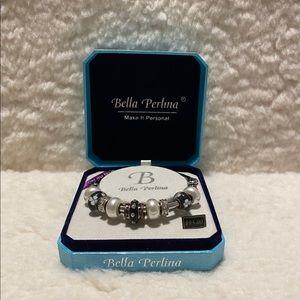 Bella Perlina Black & Silver Bracelet